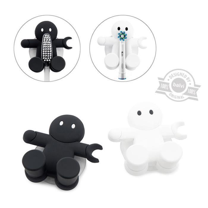 Porte brosses dents amico ventouse noir ou blanc achat vente porte accessoire porte - Porte brosse a dent ventouse ...