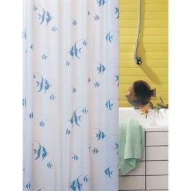 rideau de douche pvc poisson bleu 120x200 cm achat vente rideau de douche cdiscount. Black Bedroom Furniture Sets. Home Design Ideas