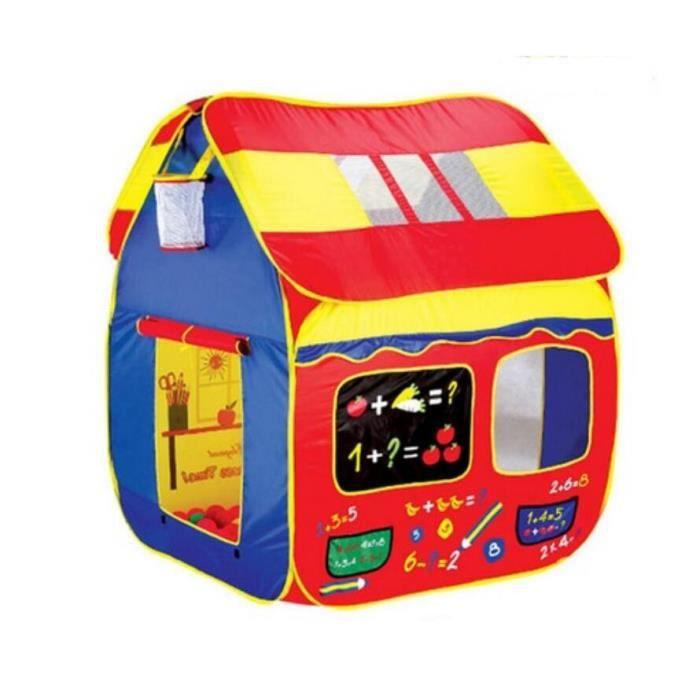 tente de jeu pour enfants maison jouet ext rieur int rieur b b 108 110 136cm achat vente. Black Bedroom Furniture Sets. Home Design Ideas