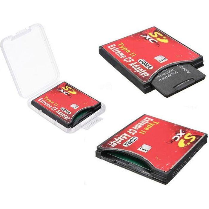 Pour monter une carte SD en lieu et place d'une carte CF. Ceci est