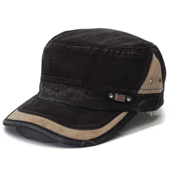 chapeau casquette militaire baseball homme femm noir achat vente casquette cdiscount. Black Bedroom Furniture Sets. Home Design Ideas