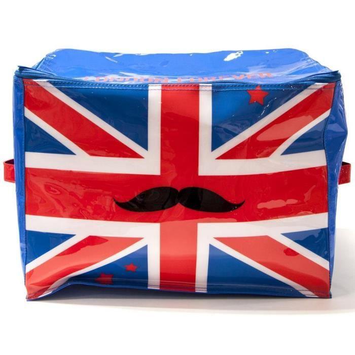 Malle coffre de rangement design drapeau uk royaume uni bleu achat vente - Malle drapeau anglais ...