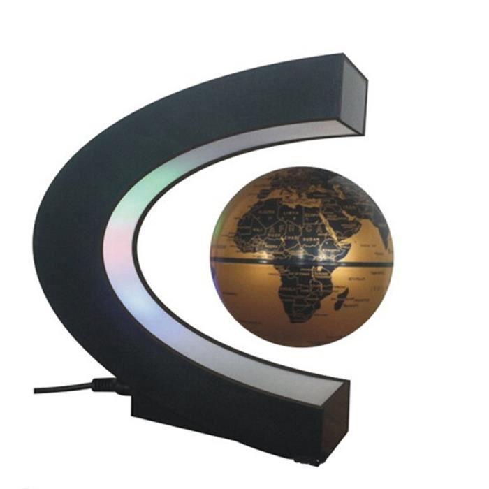 flottant globe rotation magn tique carte du monde avec. Black Bedroom Furniture Sets. Home Design Ideas
