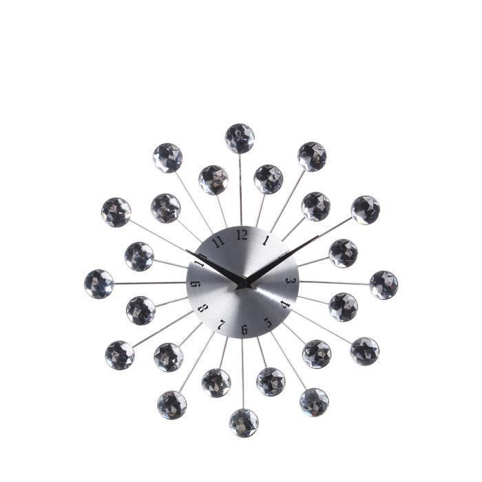 Pendule murale strass achat vente horloge cadeaux de no l cdiscount - Achat pendule murale ...