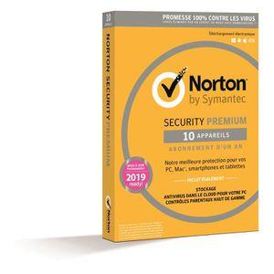 NORTON SECURITY 2016 PREMIUM (10 appareils / 1 an)