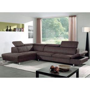 Sofactory Canapé d'angle en cuir Un canapé d'angle ultra design en
