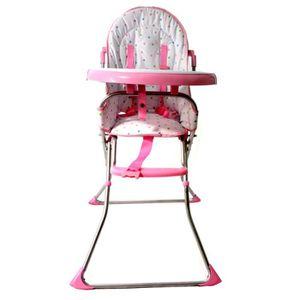 Chaise haute repas bebe 6 36 mois rose achat vente - Chaise haute 4 mois ...