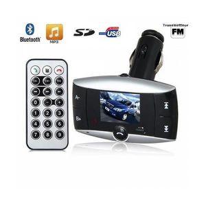 Récepteur audio Transmetteur FM voiture Bluetooth MP3 USB Carte SD