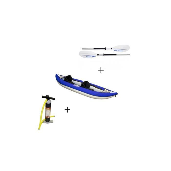 Pack kayak gonflable chinook 2 places pagaie gonfleur aquaglide choix d - Canoe gonflable 4 places ...