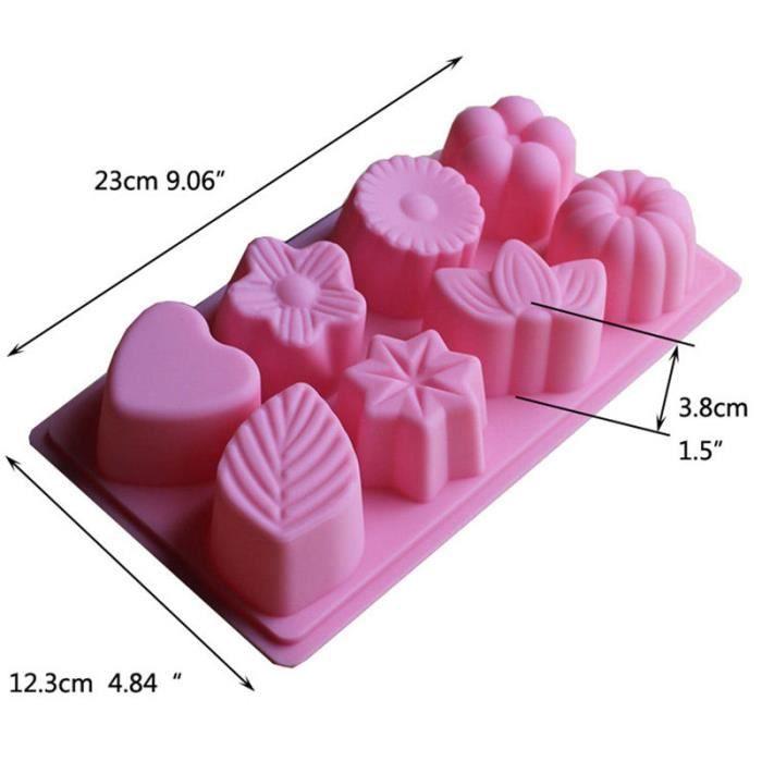 cavit 8 feuille floral silicone cake moule savon au chocolat decor craft moule de cuisson. Black Bedroom Furniture Sets. Home Design Ideas