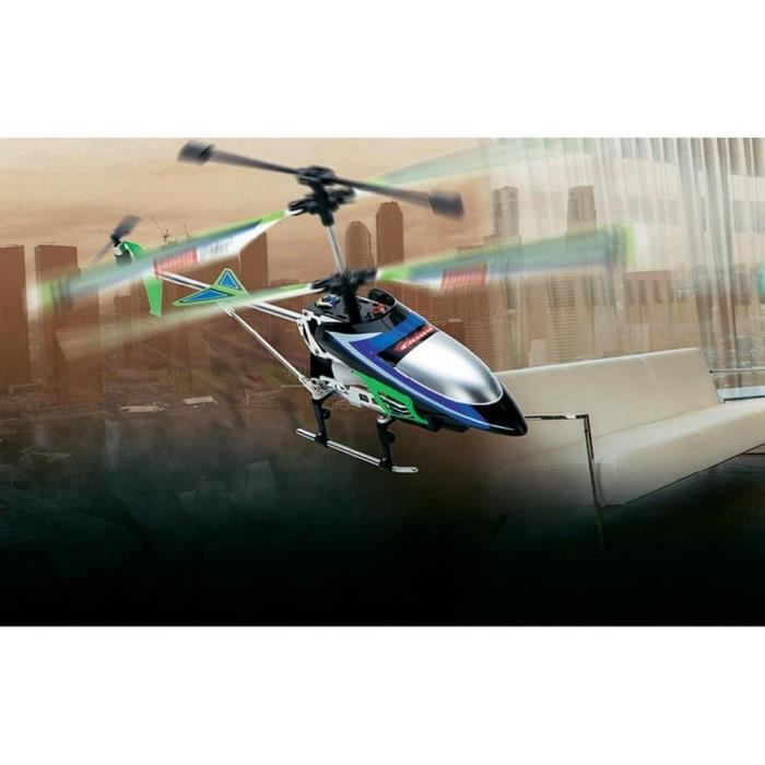 H licopt re radiocommand rtf carrera green vecto achat for Interieur helicoptere