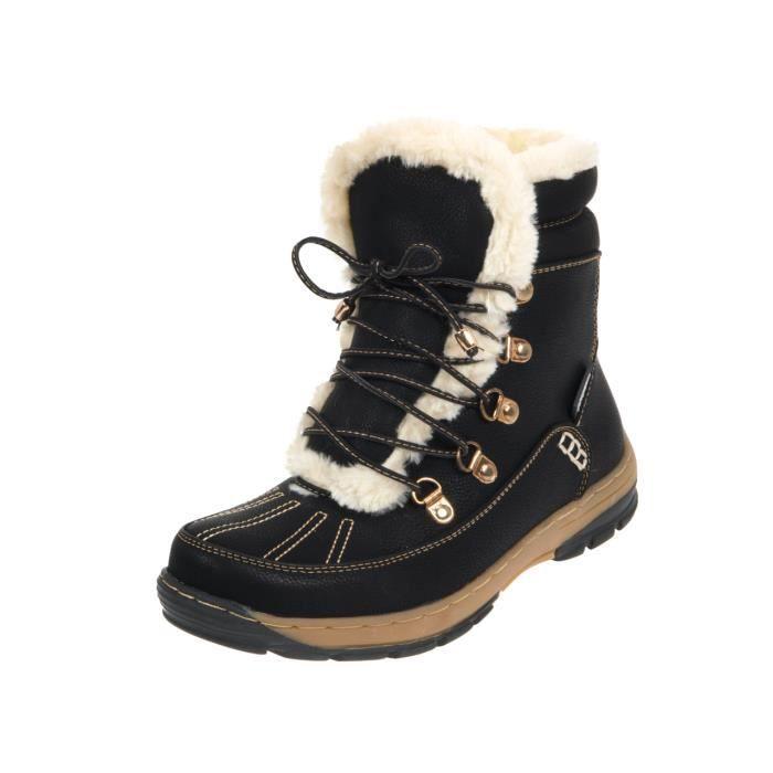 bottes neige apr s ski fidel noir boots lady prix pas cher cdiscount. Black Bedroom Furniture Sets. Home Design Ideas