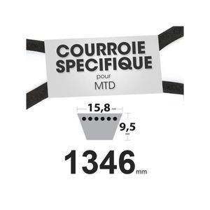 DÉBROUSSAILLEUSE  Courroie spécifique 15,8 mm x 1346 mm rempl. MTD 7