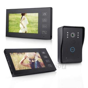 Interphone video 3 moniteurs achat vente interphone for Interphone sans fil interieur maison