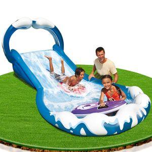 Tapis de glisse a eau achat vente jeux et jouets pas chers for Piscine avec toboggan gonflable