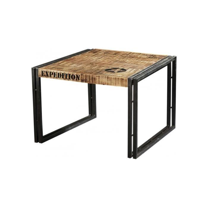 Table Basse Industrielle Carr E Acacia M Tal Achat