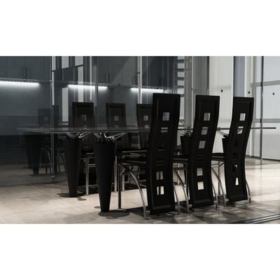 Lot de 6 chaises noir de salle manger design achat for Chaises blanches design salle manger