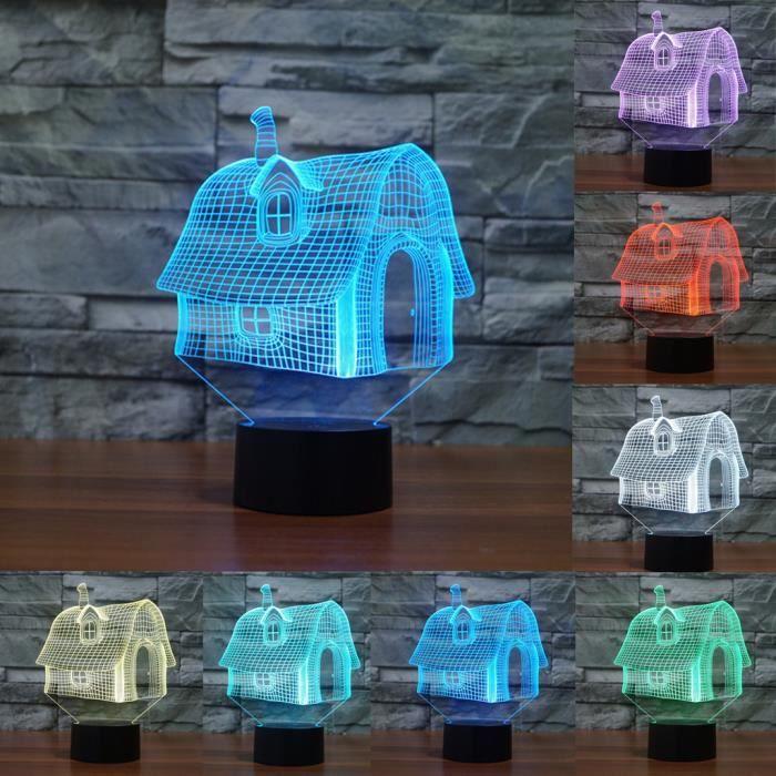 Bleosan lampe 3d led maison lampe a poser sur table 3d for Lampe a led maison