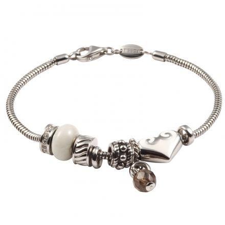 Bracelet en acier pour femme , Bijoux Fossil , Mode In Motion , 132405