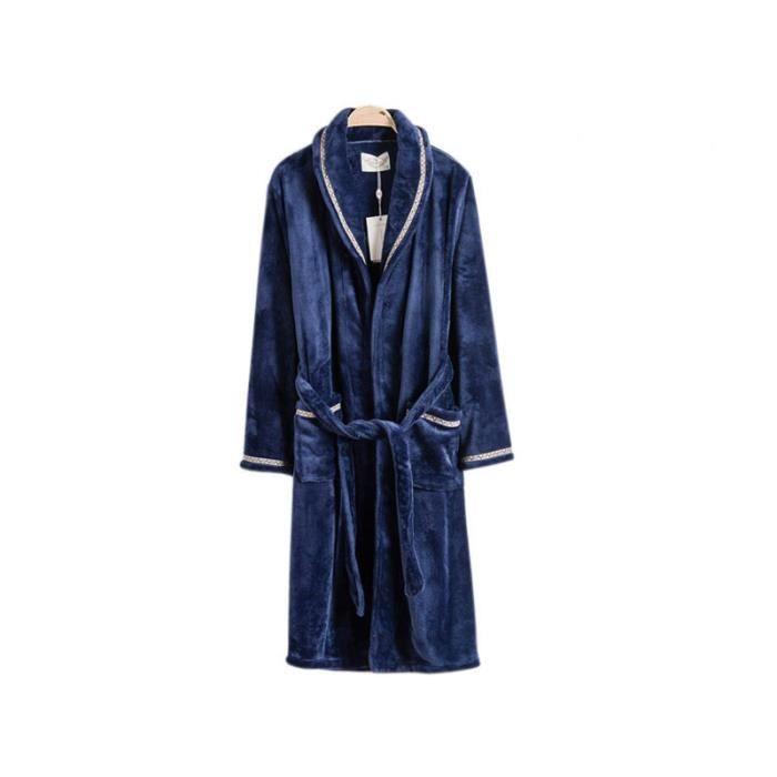 Robe de chambre homme bleue avec liser achat vente robe de chambre cdiscount - Achat robe de chambre homme ...