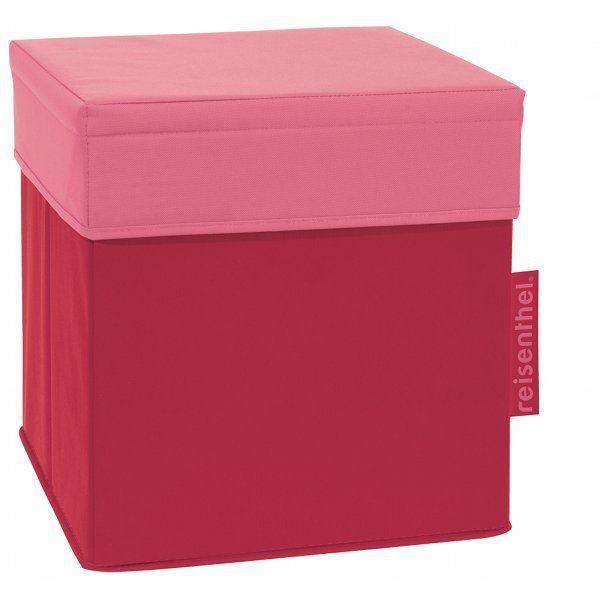 Pouf coffre de rangement 26l rouge achat vente pouf poire cdiscount - Pouf coffre rangement ...