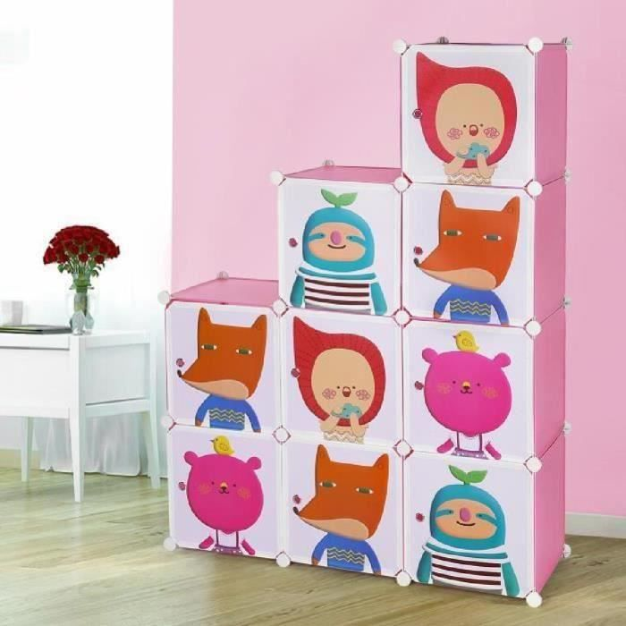 songmics diy armoire penderie cubes tag re de rangement modulables plastiques imprim cadre en. Black Bedroom Furniture Sets. Home Design Ideas
