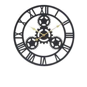 Horloge noir achat vente horloge noir pas cher cdiscount - Horloge murale geante pas cher ...