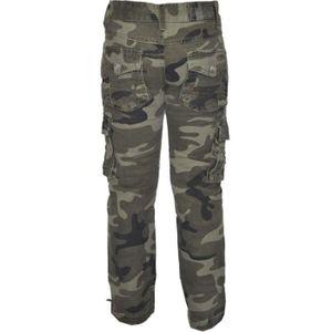 Pantalon cargo enfant achat vente pantalon cargo enfant pas cher cdiscount - Treillis militaire pas cher ...