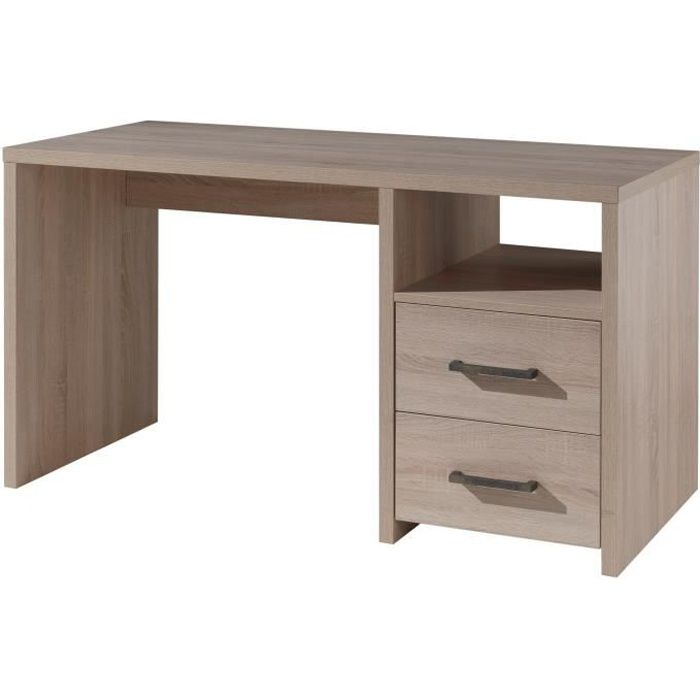 aline bureau 140 cm ch ne clair achat vente bureau aline bureau 140 cm ch ne bois panneaux. Black Bedroom Furniture Sets. Home Design Ideas