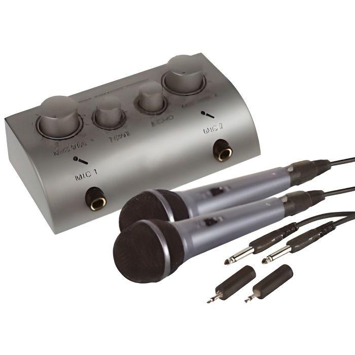 kit karaoke 2 micros table de mixage effet echo microphone accessoire avis et prix pas. Black Bedroom Furniture Sets. Home Design Ideas