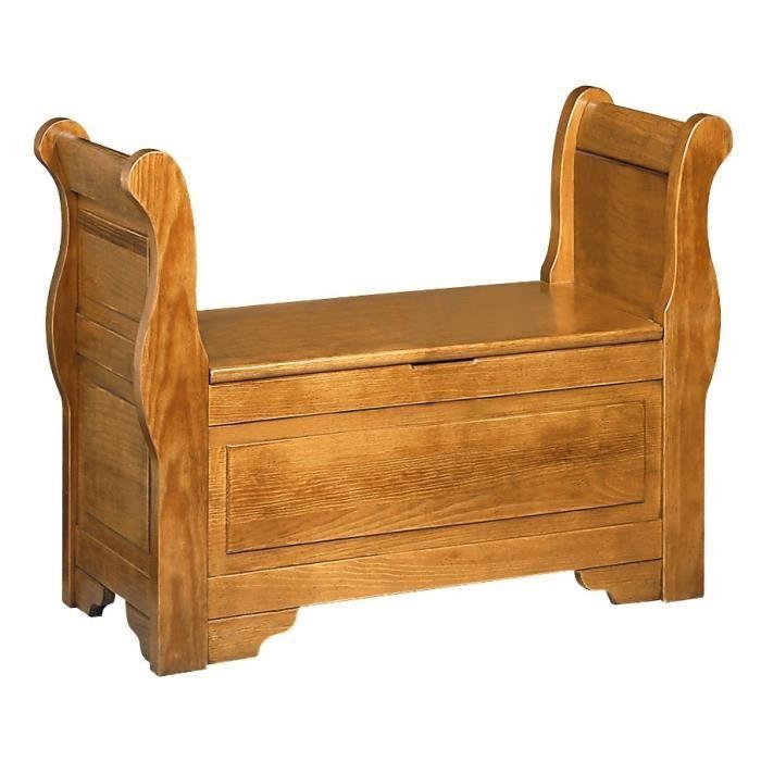 banc coffre louis philippe bois vieilli patine antiquaire 98 cm achat vente banc cdiscount. Black Bedroom Furniture Sets. Home Design Ideas