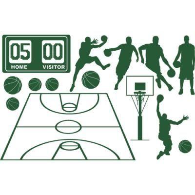 Sticker Chambre Ado Stickers Basket En Kit 150 X 96 Vert