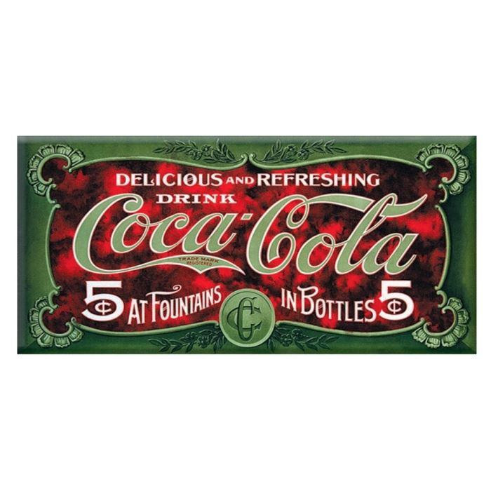 plaque affiche pub coca cola 5 cents achat vente affiche drapeau m tal cdiscount. Black Bedroom Furniture Sets. Home Design Ideas