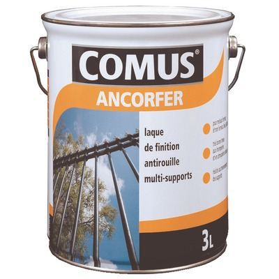 Ancorfer brillant noir 3l achat vente peinture for Antirouille maison