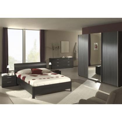 Chambre coucher adulte compl te ursula 160x200cm achat for Modele chambre a coucher adulte