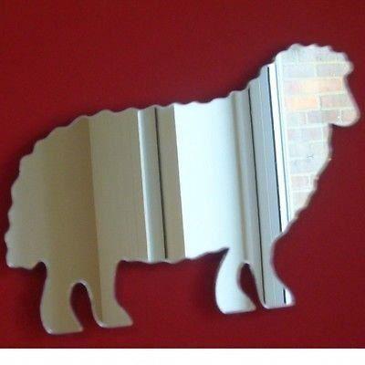 Miroir de moutons en acrylique 35 cm x 25 cm achat for Miroir acrylique incassable