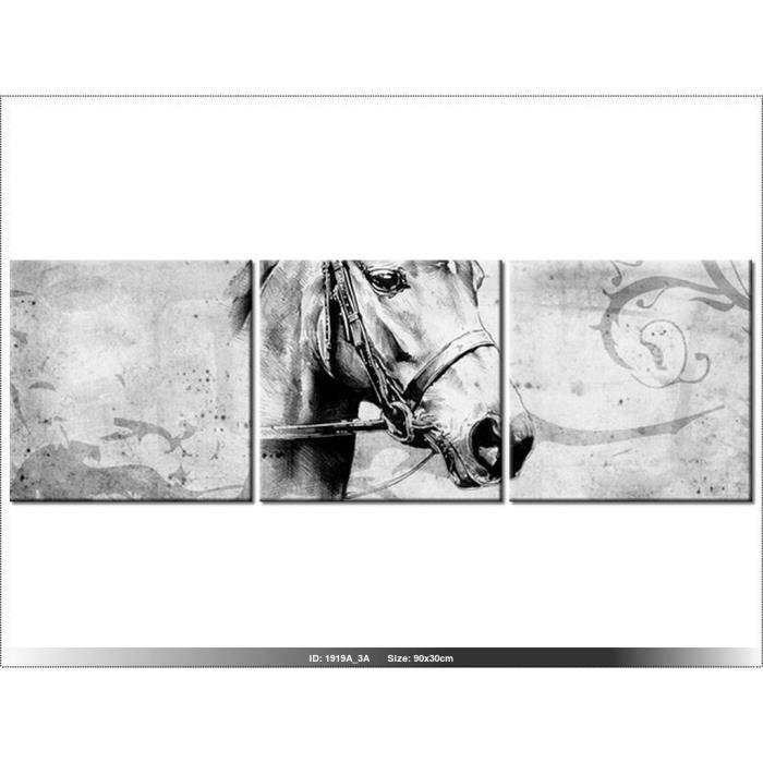 30 x 90cm cheval tableau multi panneaux moderne deco new design horse achat vente - Tableau de cheval ...