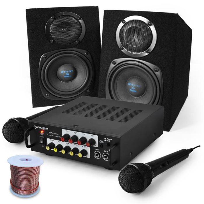 set karaoke pony 39 s ranch enceintes micro 400w pack sono avis et prix pas cher cdiscount. Black Bedroom Furniture Sets. Home Design Ideas