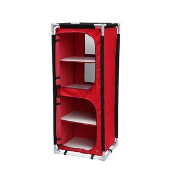 armoire de rangement de camping pliable rouge achat. Black Bedroom Furniture Sets. Home Design Ideas