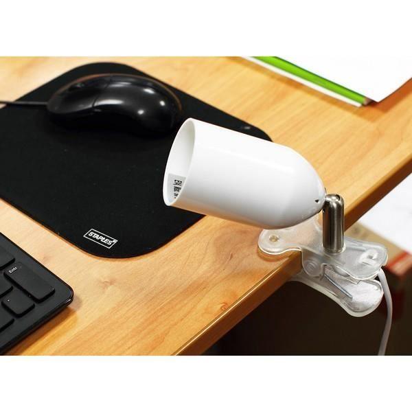 lampe de bureau clipsable blanc achat vente lampe de bureau clipsable b cdiscount. Black Bedroom Furniture Sets. Home Design Ideas