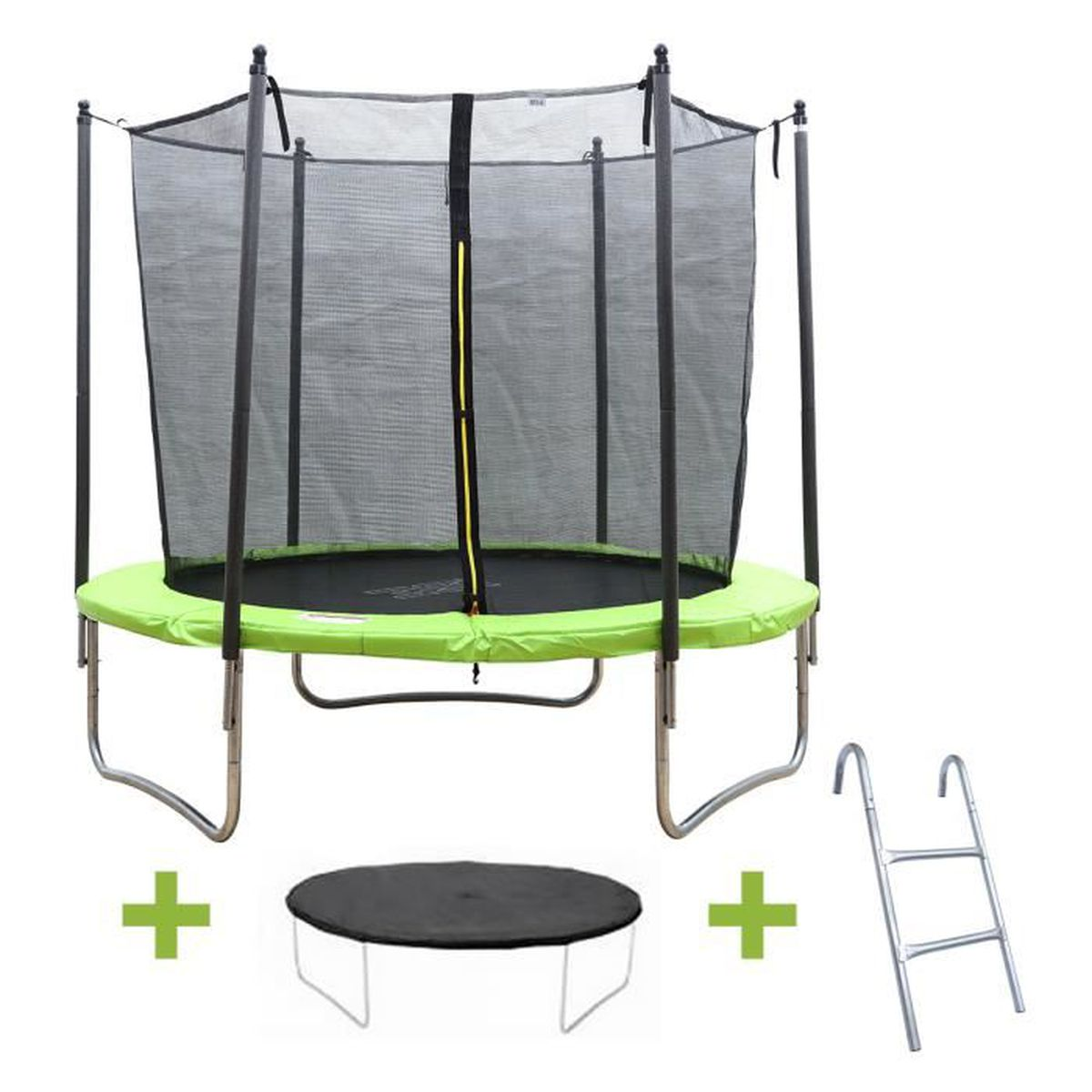 ise trampoline 10 ft 6 pied rond avec filet de protection et son echelle prix pas cher cdiscount. Black Bedroom Furniture Sets. Home Design Ideas