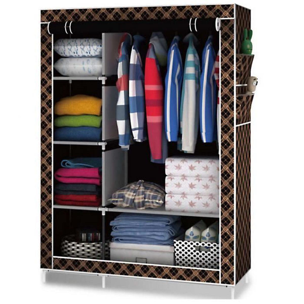 comment ranger ses vetements sans armoire ides de rangement pour foulards ou charpes pour nos. Black Bedroom Furniture Sets. Home Design Ideas