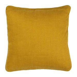 coussin deco jaune