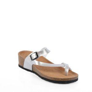 SANDALE - NU-PIEDS Nu-pieds style orthopédique Kahina Argent