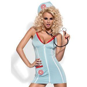 DEGUISEMENT SEXY  Costume Sexy d'Infirmière Doctor Dress - Bleu