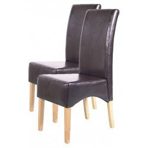 CHAISE Lot de 2 chaises de salle à manger Latina en cu...