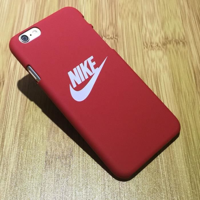 nike coque iphone 5 5s 5c 5es rouge achat coque. Black Bedroom Furniture Sets. Home Design Ideas