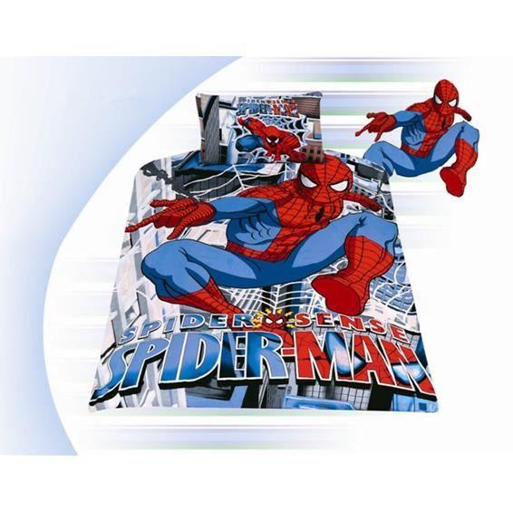 Parure de lit enfant spider man achat vente parure de - Parure de lit spiderman 1 personne ...