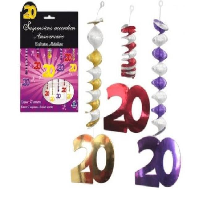 D corations anniversaire accord on 20 ans achat for Decoration 20 ans