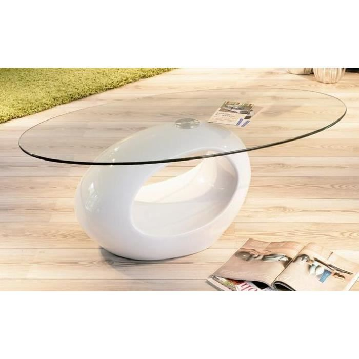 Table Basse Verre Ovale Pucci Achat Vente Table Basse